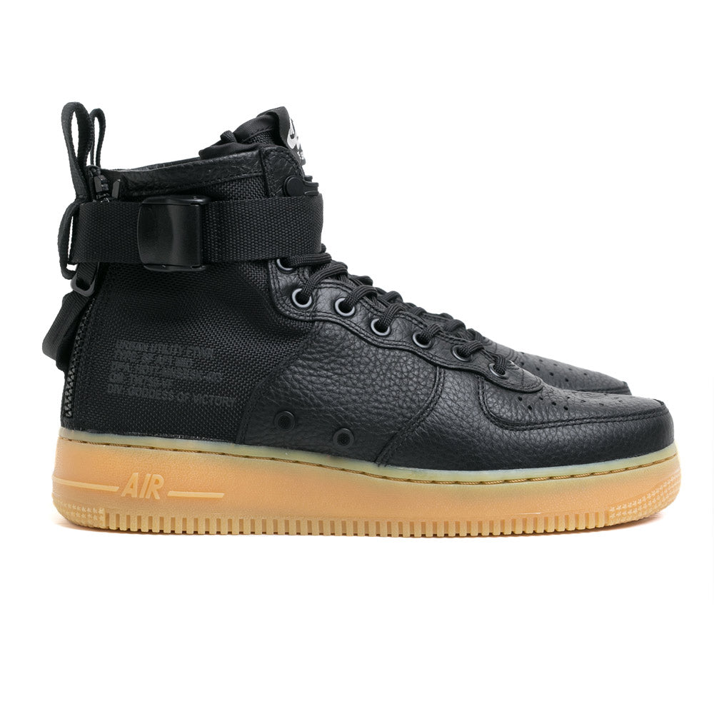 Nike Men's SF Air Force 1 Mid | Black - CROSSOVER ONLINE