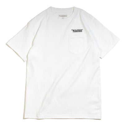 Balance Embroidered Pocket Tee | White