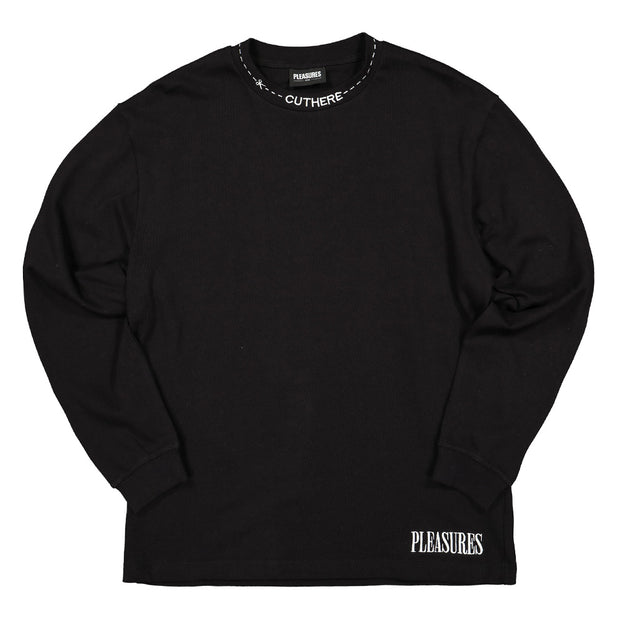 Cut Here Heavyweight LS Shirt | Black