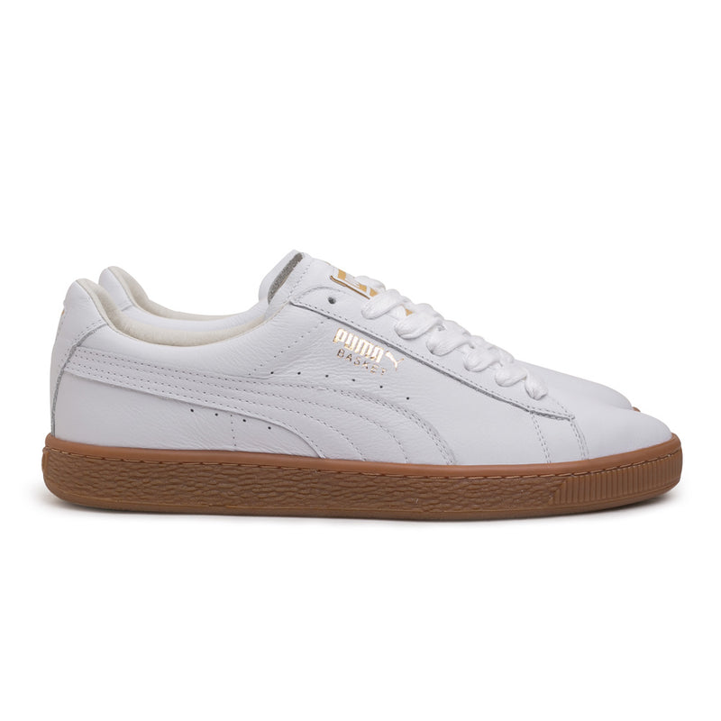 Puma Basket Classic Gum Deluxe | White - CROSSOVER ONLINE
