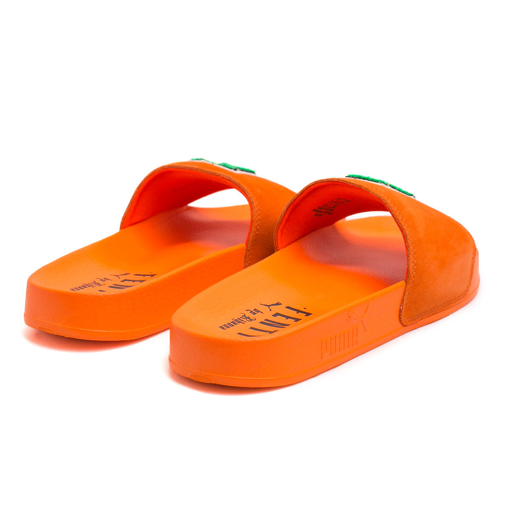 FENTY Suede Slide Sandals | Orange