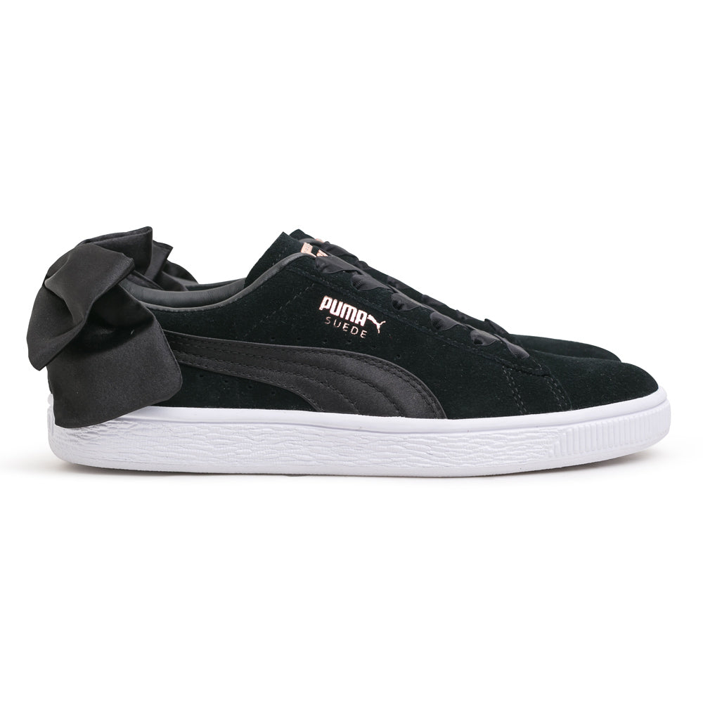 Puma Women's Suede Bow | Black - CROSSOVER ONLINE