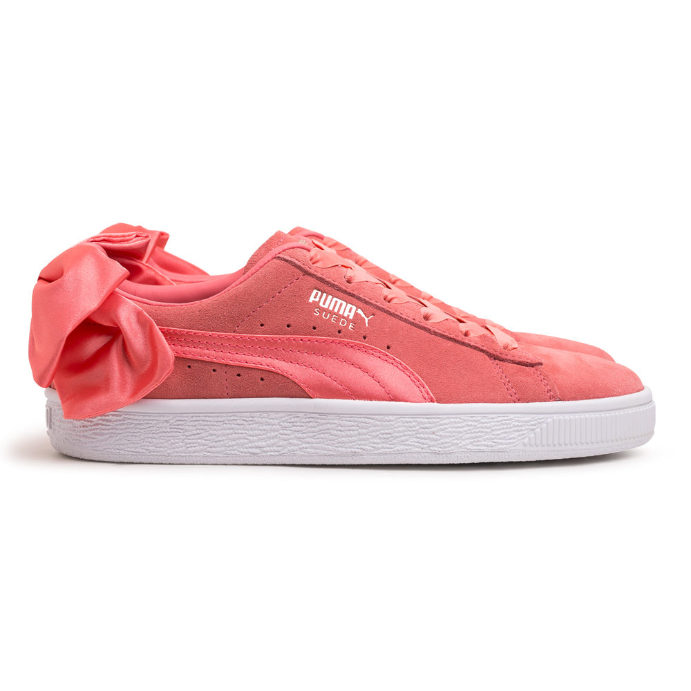 Women's Suede Bow | Pink