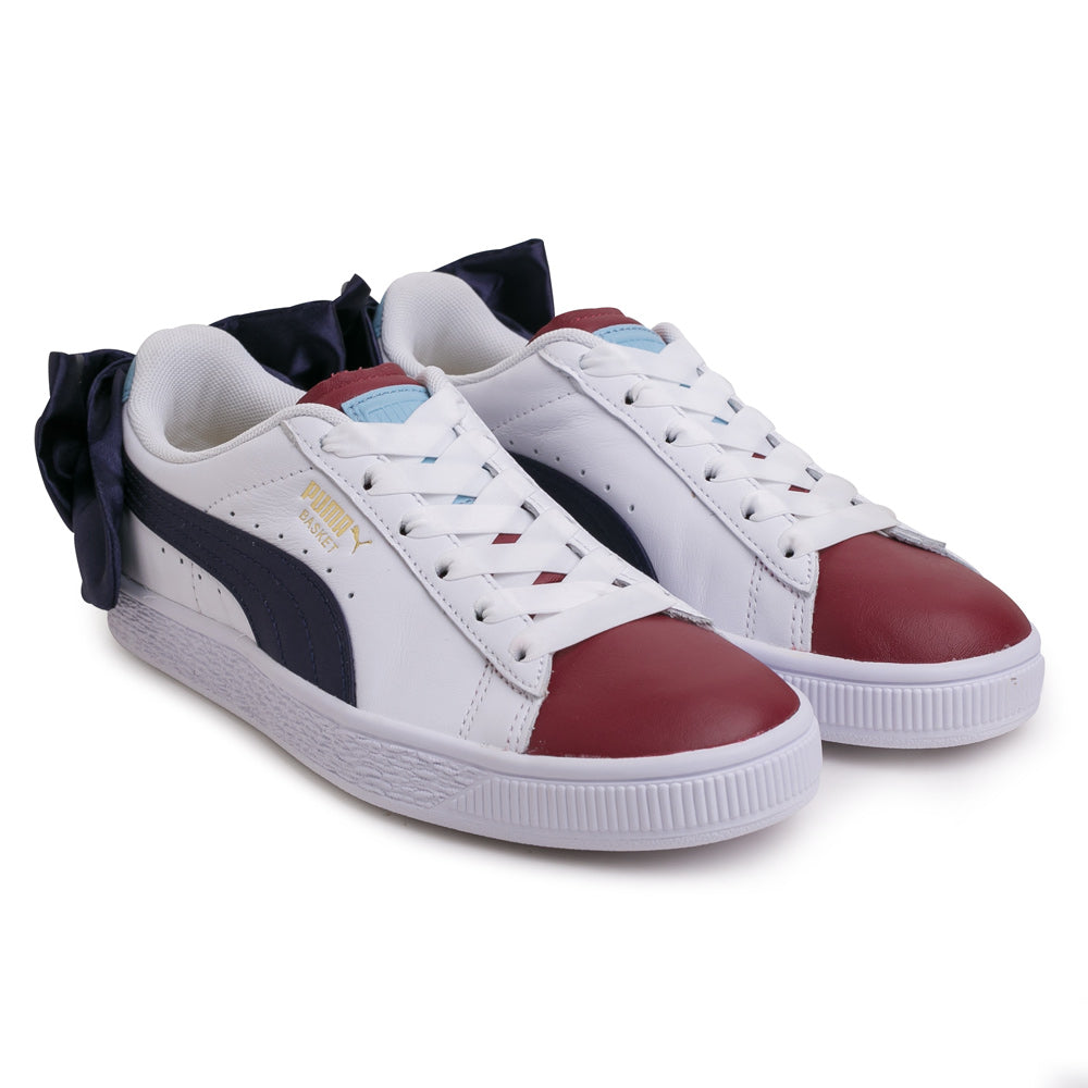Puma Women's Basket Bow New School | White - CROSSOVER ONLINE