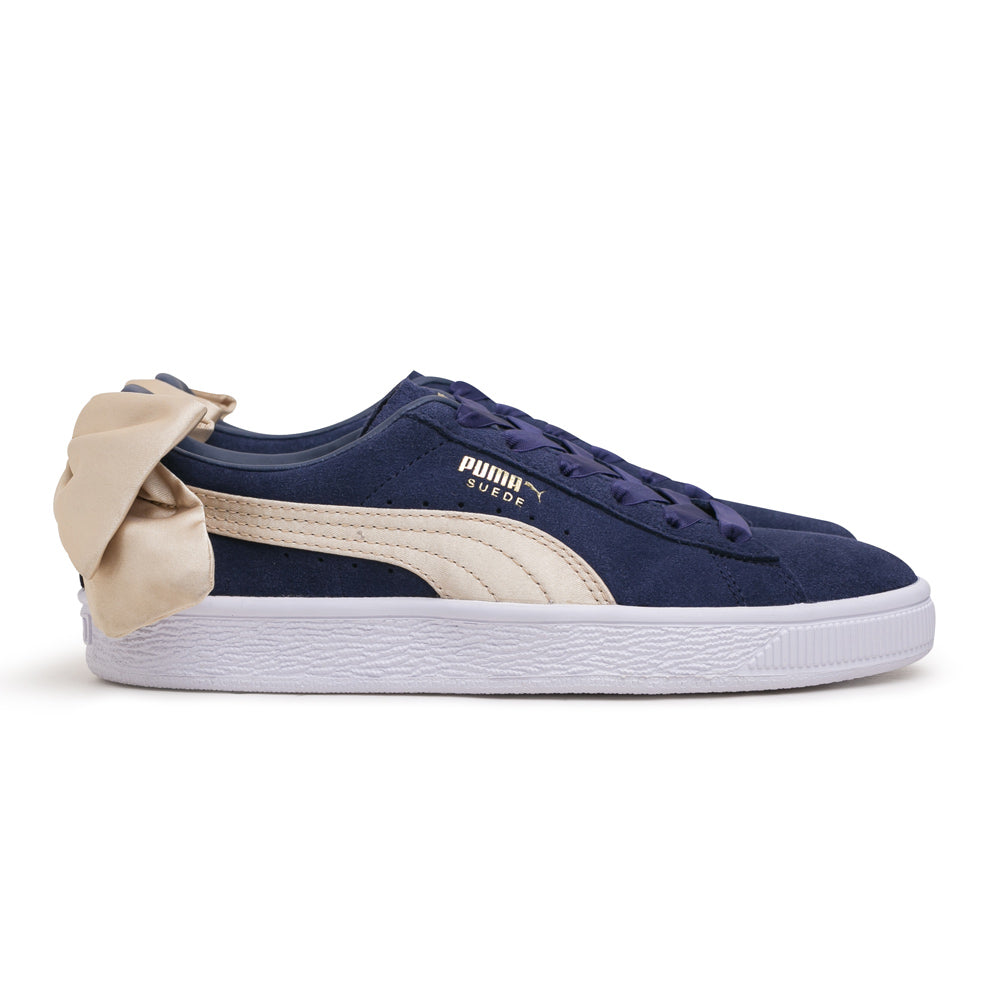 Puma Women's Suede Bow Varsity | Navy - CROSSOVER ONLINE