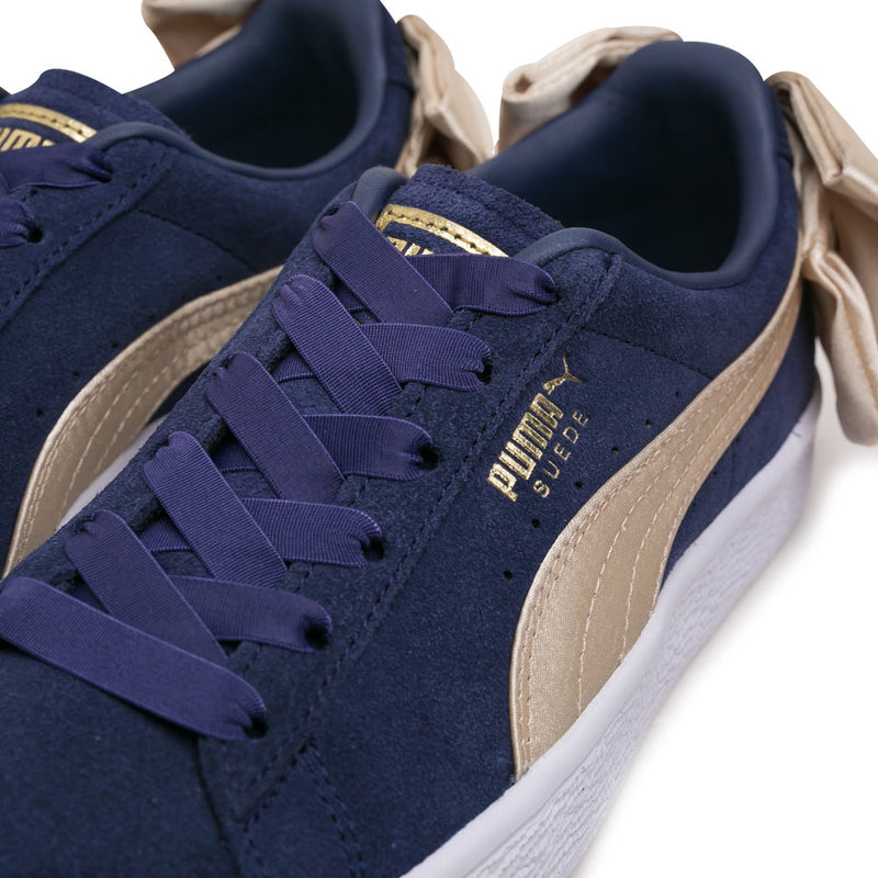 Puma Women's Suede Bow Varsity | Navy - CROSSOVER