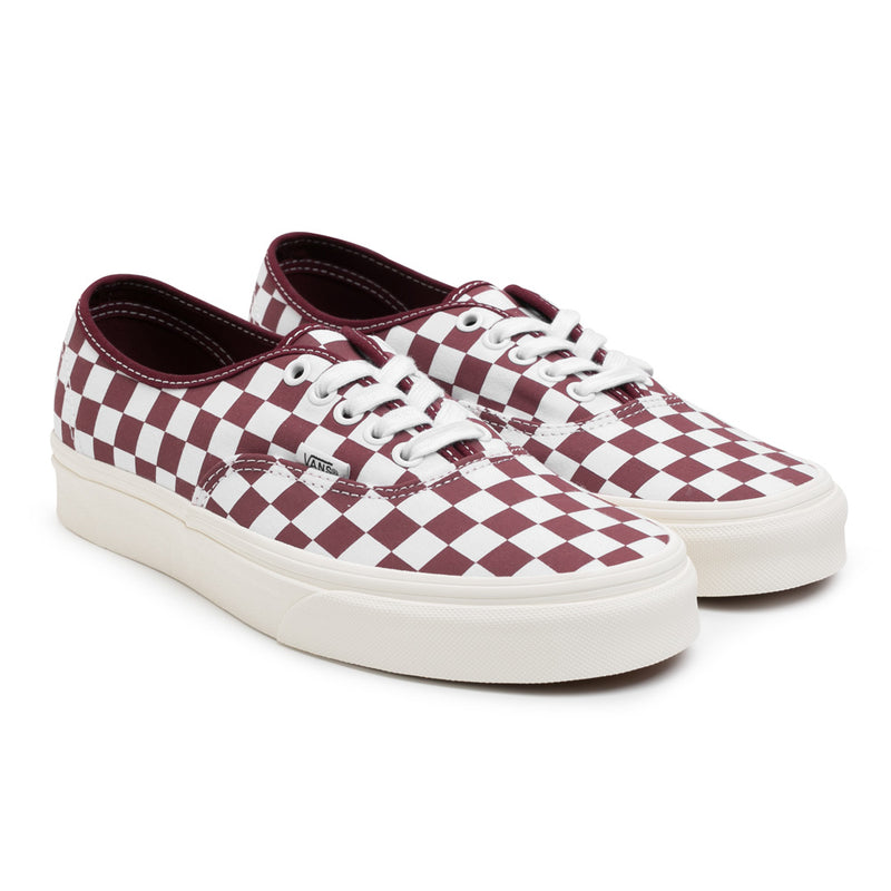 Vans Authentic Checkerboard | Maroon - CROSSOVER ONLINE