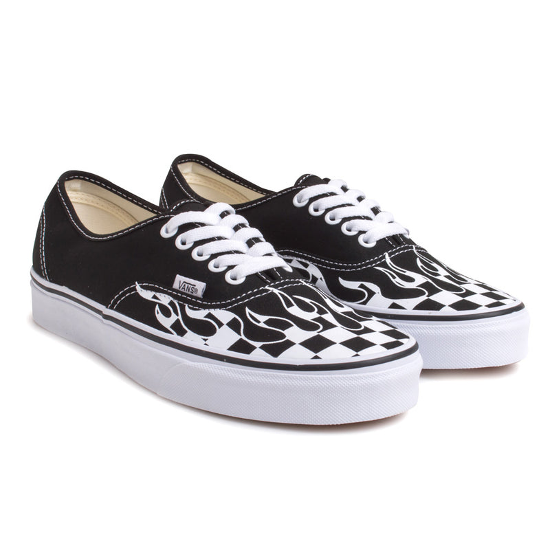 Vans Authentic Checker Flame | Black - CROSSOVER ONLINE