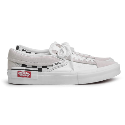 Vans Slip On Checkerboard Cap | White - CROSSOVER