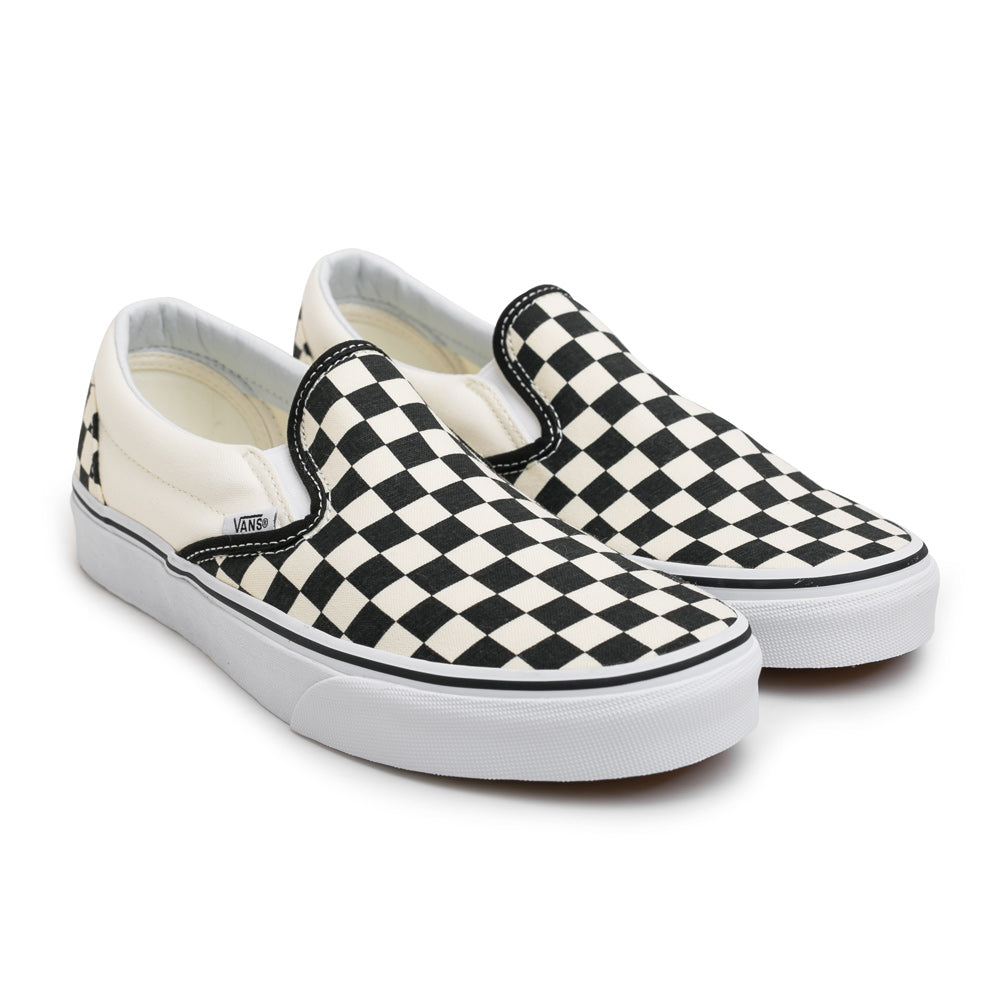 Vans Classic Checkerboard Slip On | Black - CROSSOVER