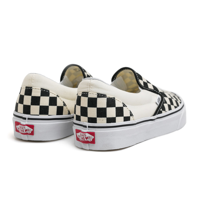 Vans Classic Checkerboard Slip On | Black - CROSSOVER ONLINE