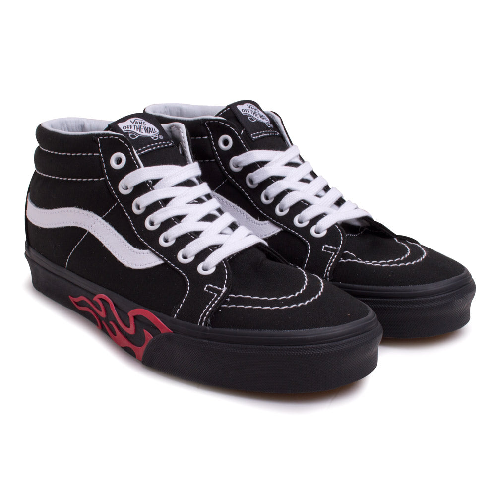 SK8-MID Flame Cut Out | Black