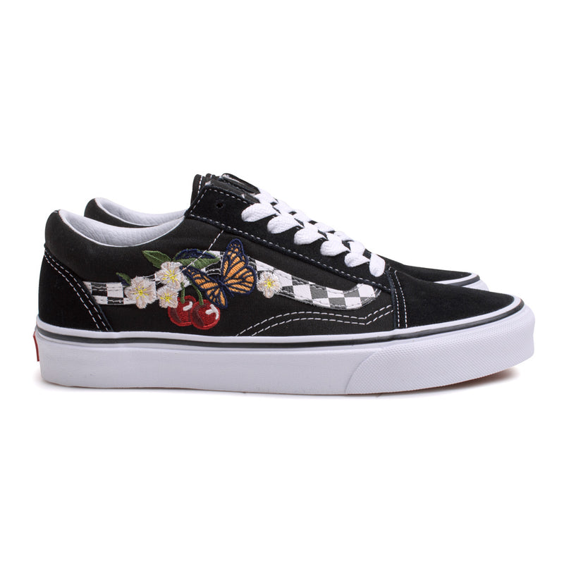 Vans Old Skool Checker Floral | Black - CROSSOVER ONLINE
