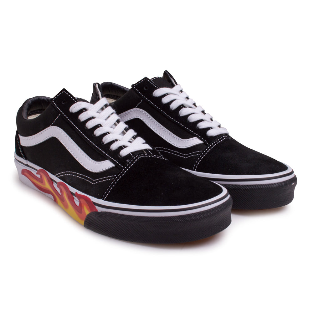 Old Skool Flame Cut Out | Black