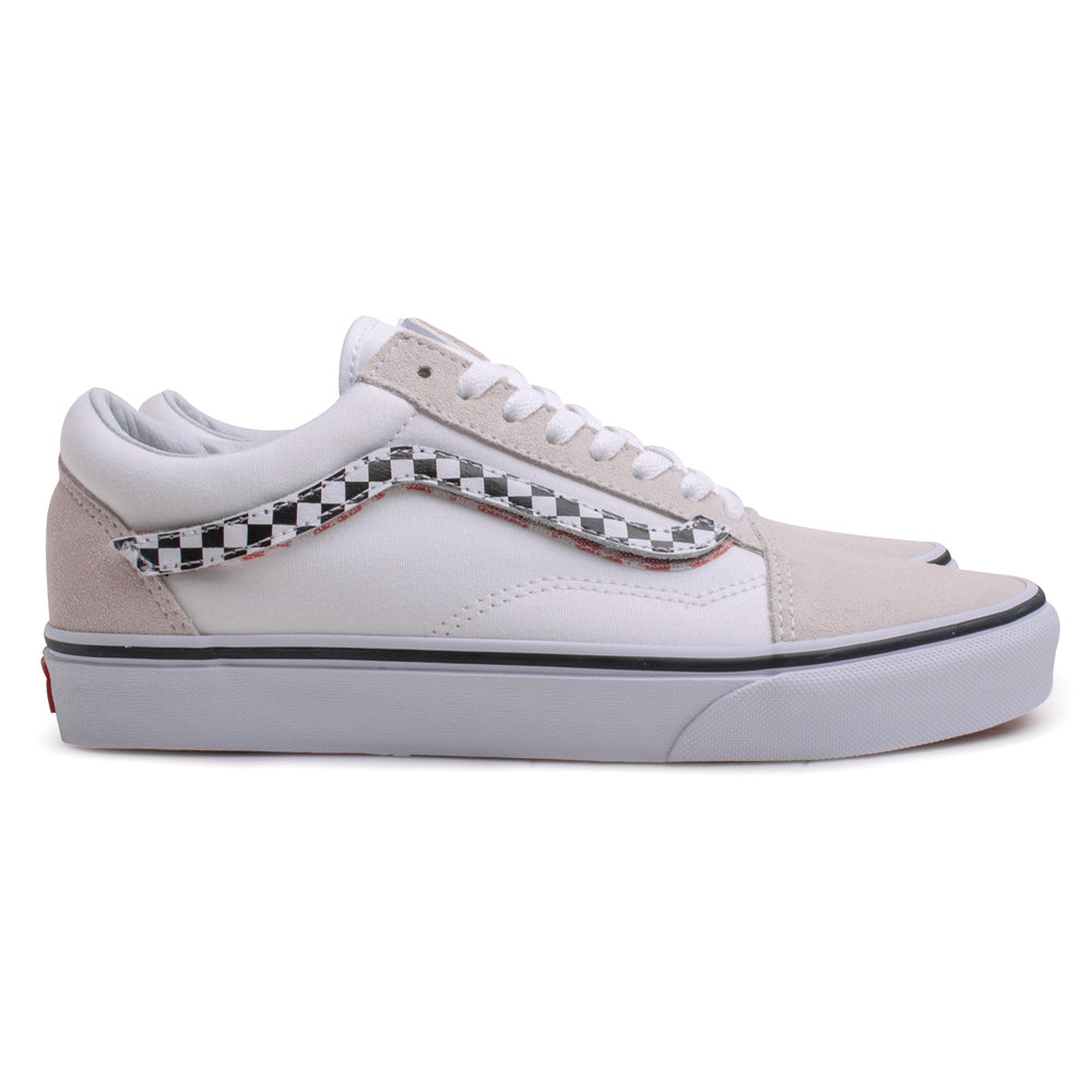 Vans Old Skool Sidestripe V | White - CROSSOVER