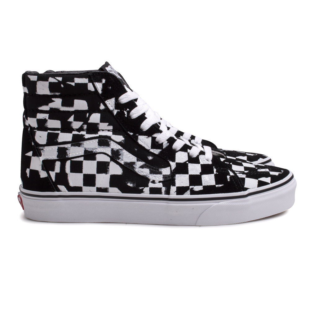Vans SK8-HI Overprint Check | Black - CROSSOVER