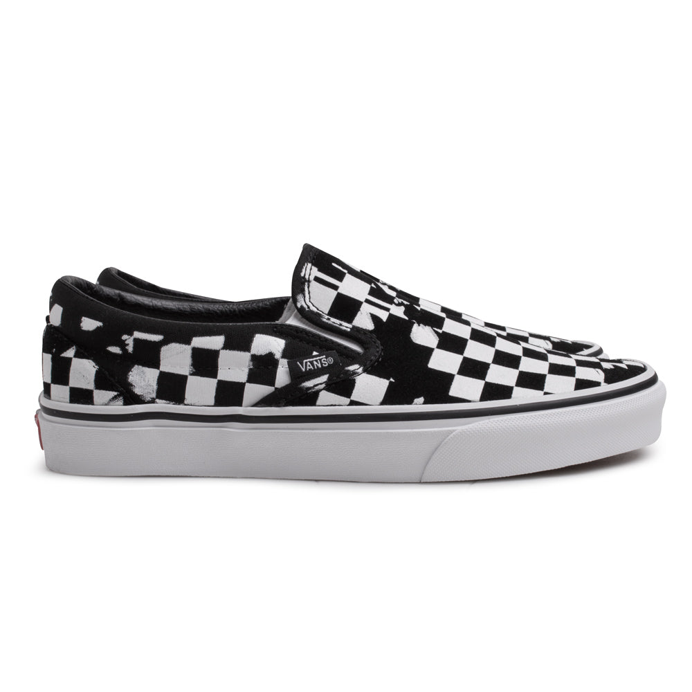 Vans Slip On Overprint Check | Black - CROSSOVER