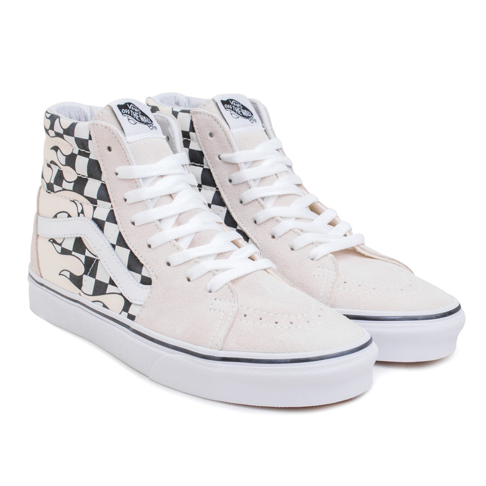Vans SK8-HI Checker Flame | White - CROSSOVER