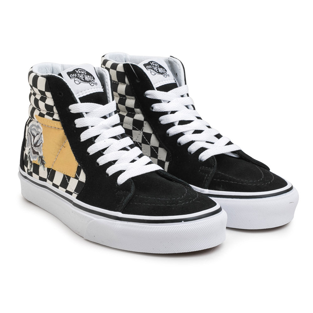 Vans SK8-HI Satin Patchwork | Black - CROSSOVER