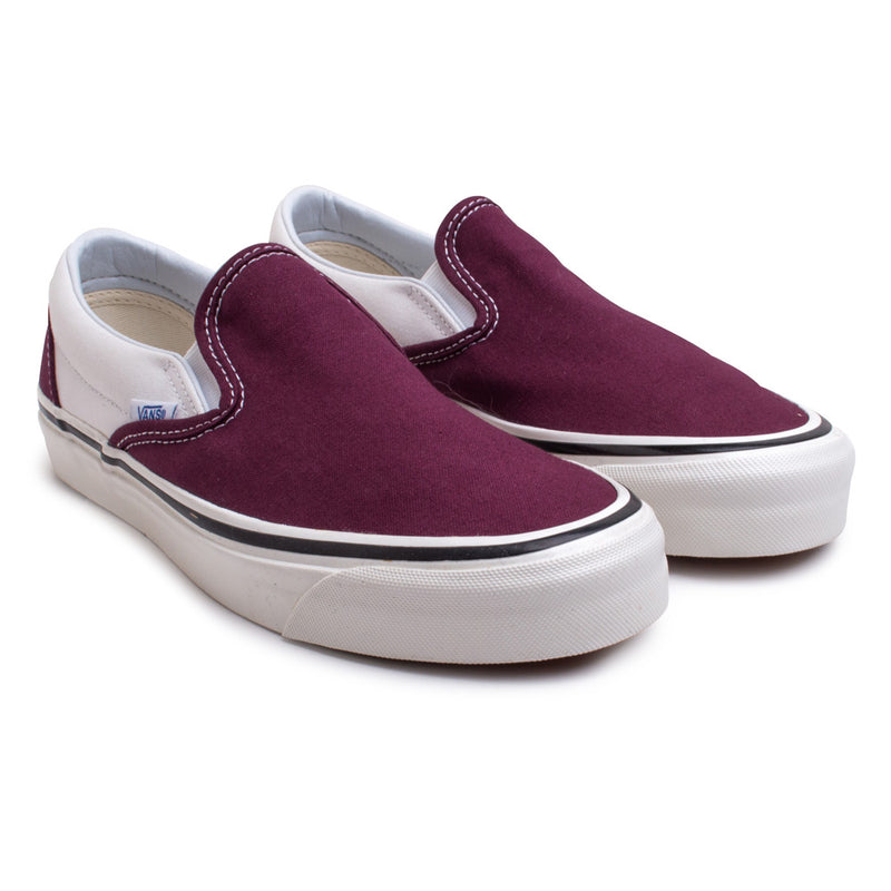 Vans Slip on 98 DX Anaheim Factory | Burgundy - CROSSOVER ONLINE