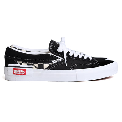 Vans Slip On Checkerboard Cap | Black White - CROSSOVER