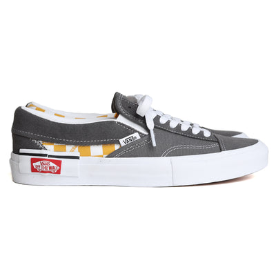 Vans Slip On Checkerboard Cap | Pewter - CROSSOVER