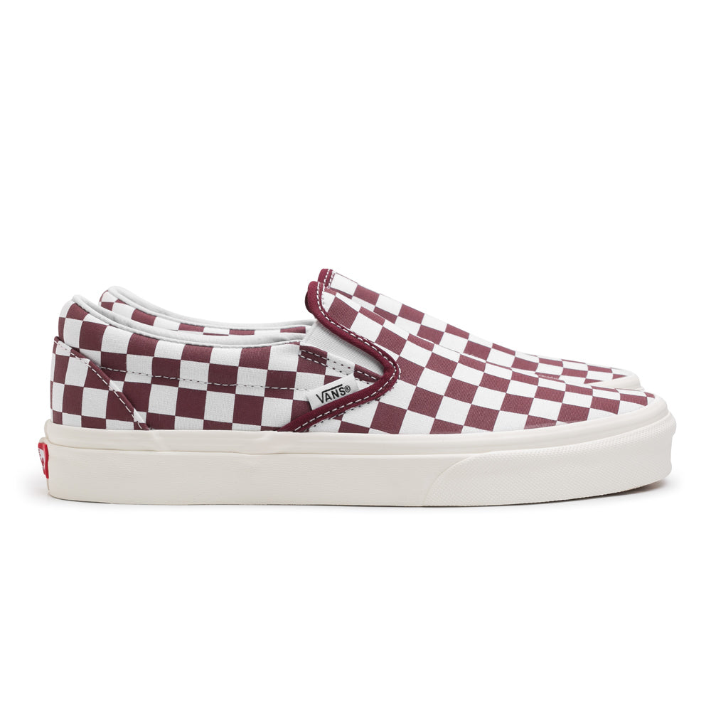 Vans Slip On Checkerboard | Maroon - CROSSOVER ONLINE