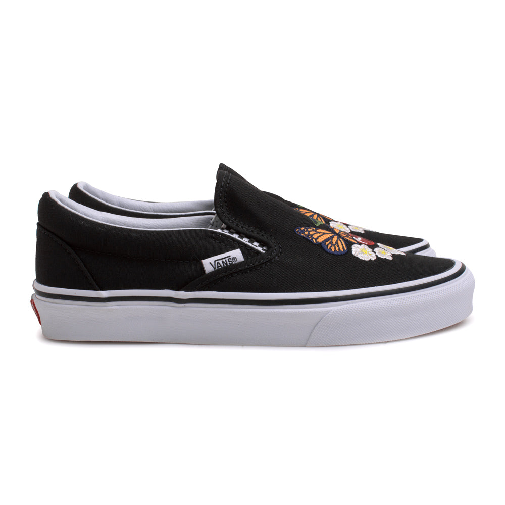 Vans Slip On Checker Floral | Black - CROSSOVER