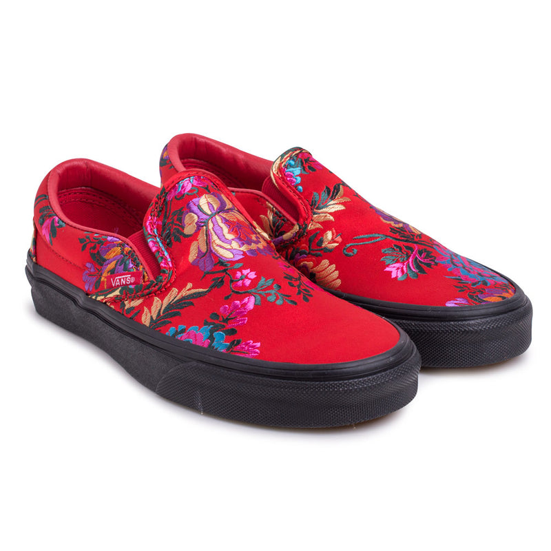 Vans Slip On 'Festival Satin' | Red - CROSSOVER