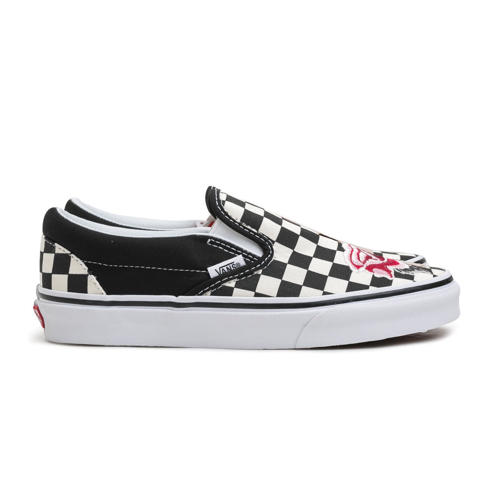 Vans Slip On Satin Patchwork | Black - CROSSOVER ONLINE