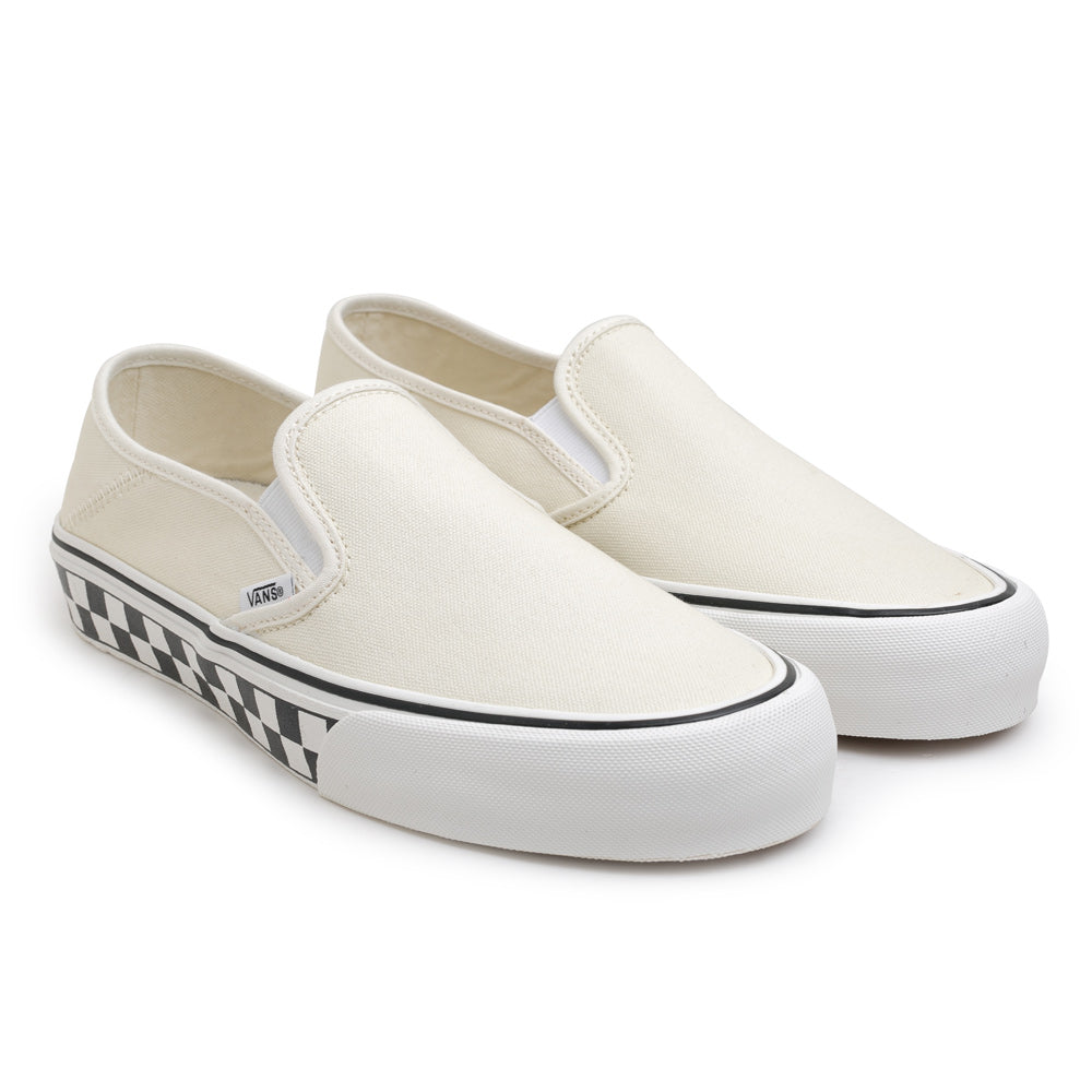 Vans Slip on SF Checkerboard | White - CROSSOVER ONLINE