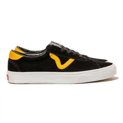 VansSport Suede | Black Yellow - CROSSOVER