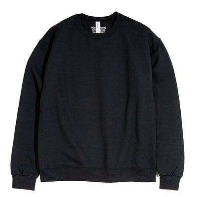 Crew Neck Sweatshirt (Type-7) | Black