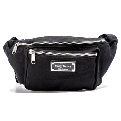 Washed Canvas Waist Bag | Black