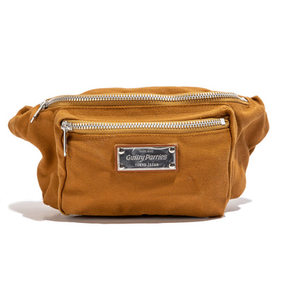 Washed Canvas Waist Bag | Brown