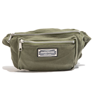 Washed Canvas Waist Bag | Khaki