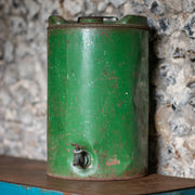 Distressed Green Oil Drum