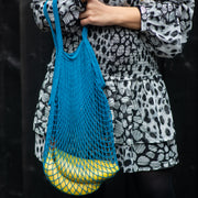 Marine Blue String Shopper