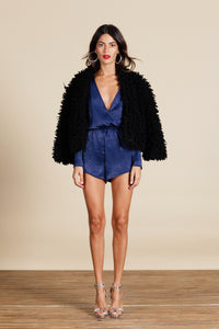TIAGO LUX PLAYSUIT IN MIDNIGHT BLUE