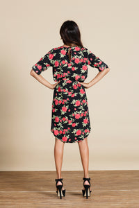 CHIQUITA DRESS IN RED FLORET