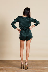 TIAGO PLAYSUIT IN PINE GREEN