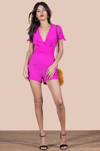 JUNO PLAYSUIT IN HOT PINK