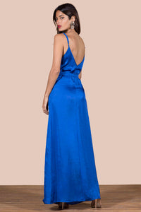 SOOKIE SLIP DRESS IN COBALT BLUE