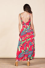 GISELLE MAXI IN RED TROPICAL