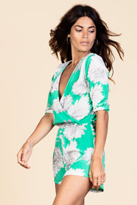 TIAGO PLAYSUIT IN GREEN BLOOM