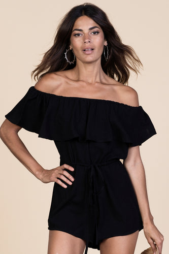 ZOLA PLAYSUIT IN BLACK