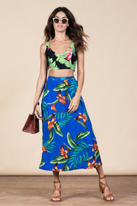ARIEL SKIRT IN BLUE TROPICAL