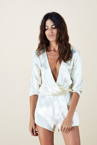 TIAGO LUX PLAYSUIT IN CHAMPAGNE