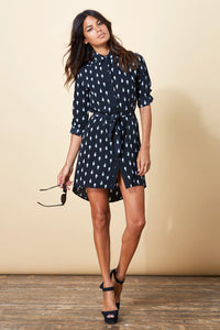 MINI SHIRT DRESS IN CRYSTAL PRINT