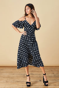IVY DRESS IN PAINTED DOT